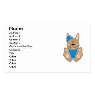Cutelyn Brown Baby Boy Snow Bunny Business Card Template