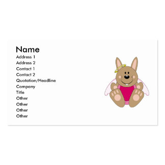 Cutelyn Brown Baby Girl Angel Bunny Business Card