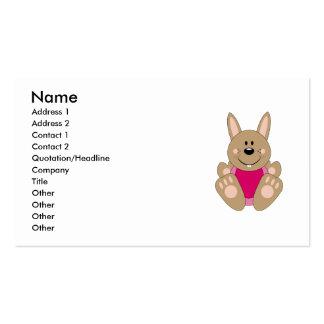 Cutelyn Brown Baby Girl Bunny Business Card Templates