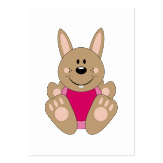 Cutelyn Brown Baby Girl Bunny Business Cards