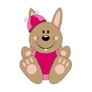 Cutelyn Brown Baby Girl Silly Bunny Photo Cutouts
