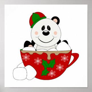 Cutelyn Christmas Mug Panda Bear Poster