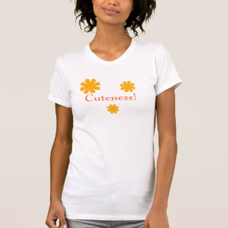 """Cuteness!"" - Orange Daisy Cut-out [a] Tee Shirt"