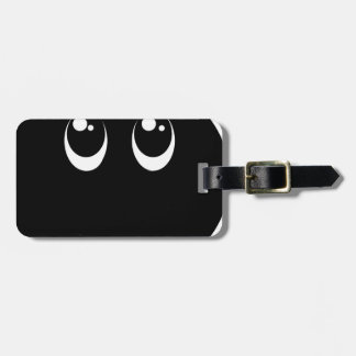 CUTER Speak No Evil black emoji smiley face Luggage Tag