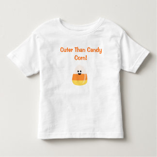 """""""Cuter Than Candy Corn""""  Halloween T for Toddlers Toddler T-Shirt"""