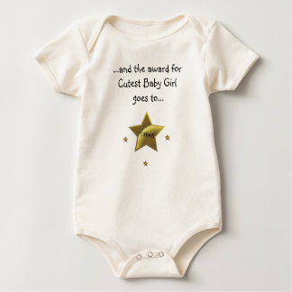 Cutest Baby Girl-Tiffany Baby Bodysuit