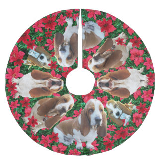 Cutest Basset Hound Christmas Tree Skirt On Earth