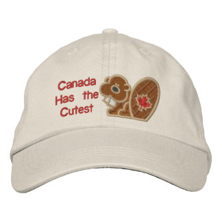 Cutest Beaver Embroidered Baseball Caps