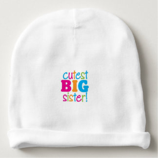 CUTEST BIG SISTER BABY BEANIE