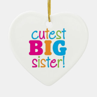 CUTEST BIG SISTER CERAMIC HEART DECORATION