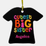 Cutest Big Sister Personalised Ornament