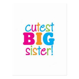 CUTEST BIG SISTER POSTCARD