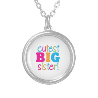 CUTEST BIG SISTER SILVER PLATED NECKLACE