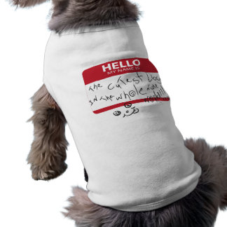Cutest Dog in the whole world Sleeveless Dog Shirt