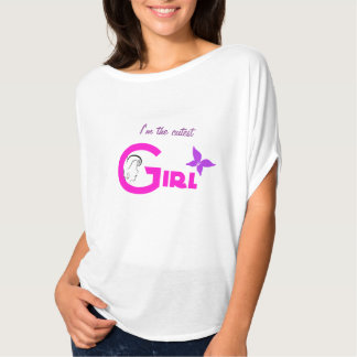 Cutest girl text pink candy heart monogram t-shirt