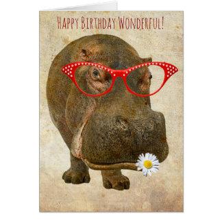 Cutest Hippo Greeting Card! Card