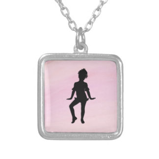 Cutest Little Dancer Silver Plated Necklace
