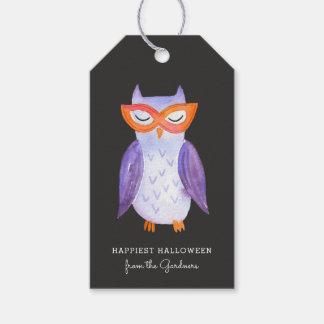 Cutest Little Owl Halloween Treat Tags
