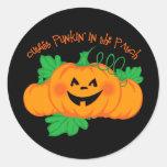 Cutest Punkin' Patch Round Stickers