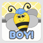 Cutie Bee Boy Sticker