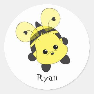 Cutie Bee Classic Round Sticker