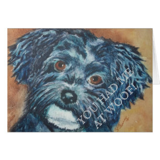 CUTIE BLACK HAVANESE CARD