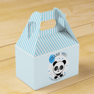 Cutie Blue Panda Birthday Party Favour Box