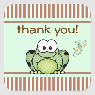 Cutie Frog Thank You Sticker