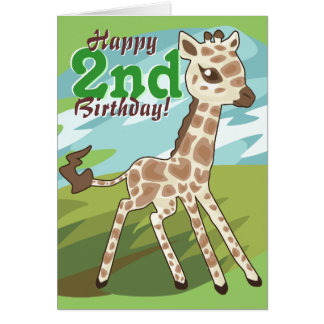 Cutie Giraffe B-Day Card