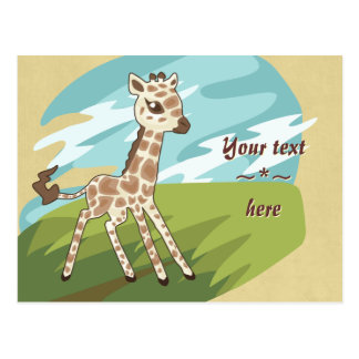 Cutie Giraffe Post Card