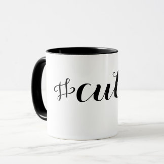 Cutie Hashtag Typography Mug