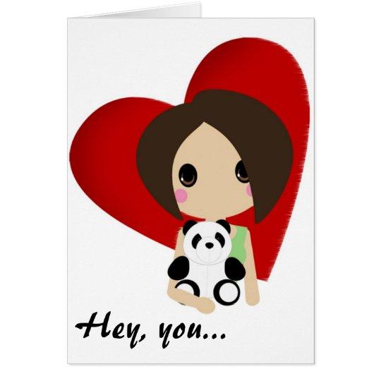 Cutie Kali Valentine Greeting Card