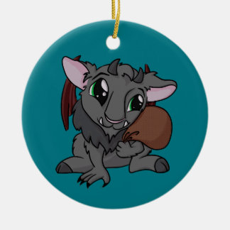 Cutie Krampus! Round Ceramic Decoration