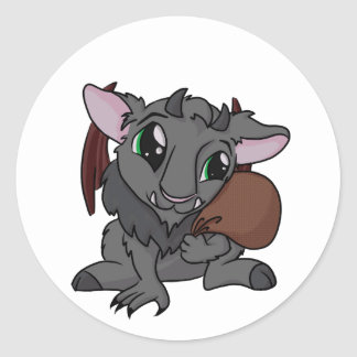 Cutie Krampus! Round Sticker