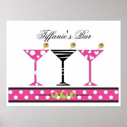 Cutie Martini Bar Posters