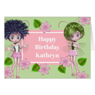 Cutie Patootie Fairies & Stripes Multi Occasion Card