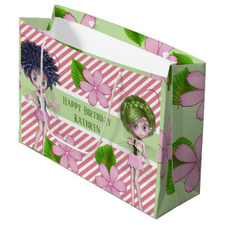 Cutie Patootie Fairies & Stripes Multi Occasion Large Gift Bag