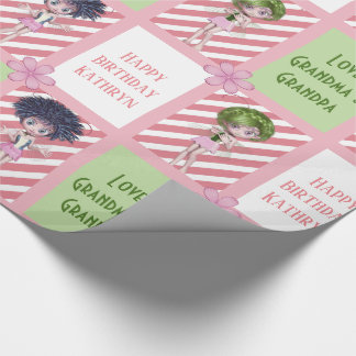 Cutie Patootie Fairies & Stripes Multi Occasion Wrapping Paper