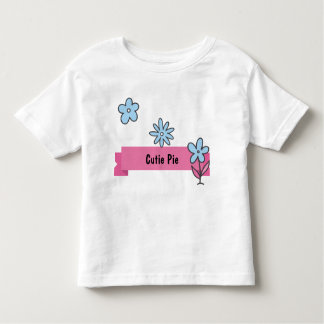 Cutie Pie Personalized Cartoon Flowers Toddler T-Shirt