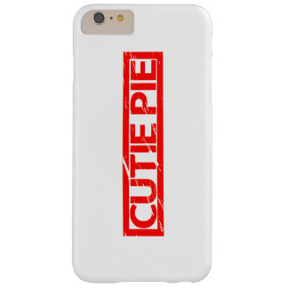 Cutie Pie Stamp Barely There iPhone 6 Plus Case