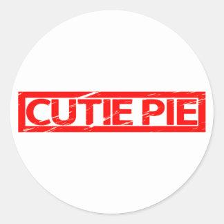 Cutie Pie Stamp Classic Round Sticker