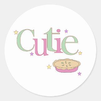 Cutie Pie Round Stickers
