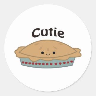 Cutie Pie Round Sticker
