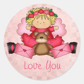 Cutie Pie Valentine Stickers