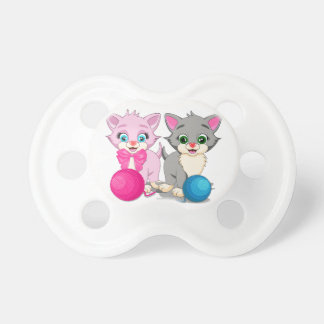 Cutie Pink and Grey Kittens Cartoon Dummy