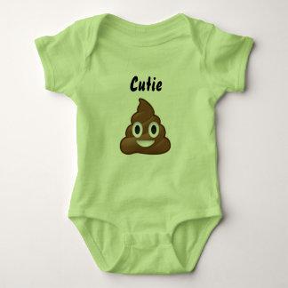 Cutie Poo Emoji Romper Baby Bodysuit