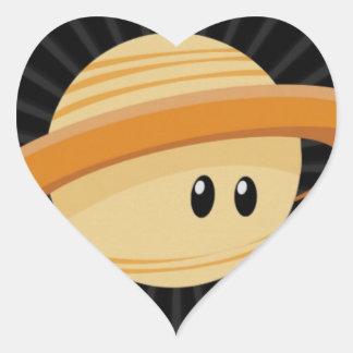 Cutie Saturn Heart Sticker