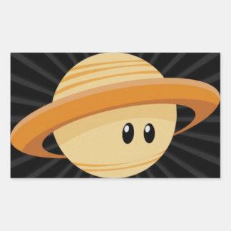 Cutie Saturn Rectangular Sticker
