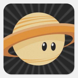 Cutie Saturn Square Sticker