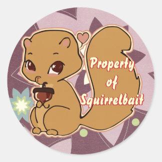 Cutie Squirrel Stickers